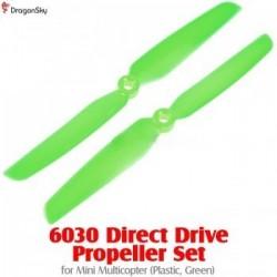 Helices 2 branches plastique 6030 vertes