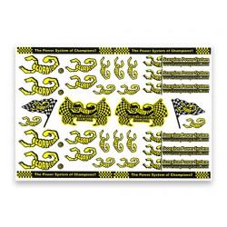 Scorpion Decal Sticker 006 White (A4 Size)