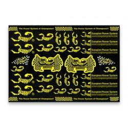 Scorpion Decal Sticker 005 Black (A4 Size)