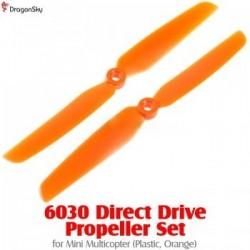 Helices 2 branches plastique 6030 orange