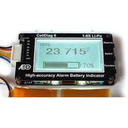 Testeur batterie avec pourcentage de charge restante